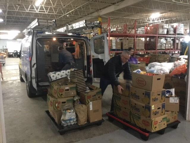 food boxes KCFP mobile food drive
