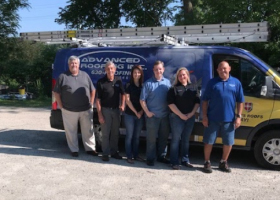 advanced roofing roofers team